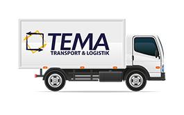 Tema Transportlogistik Kurierdienst Furhpark Planen-12 Tonnen LKW