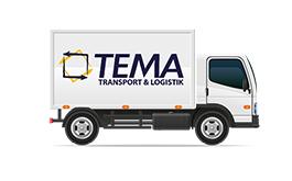 Tema Transportlogistik Kurierdienst Furhpark Planen-7,5 Tonnen LKW